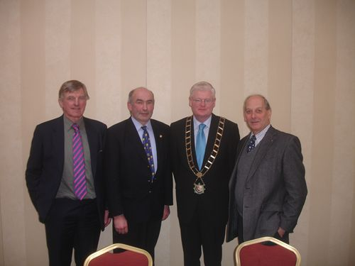 Mayor Frank Maher with Tom, Dave and Richard